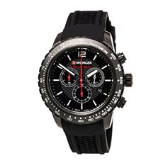 01.0853.109 WENGER Roadster Black Night Chronograph Silicone Men's Swiss made ručni sat